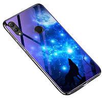 Чехол TPU+Glass Fantasy с глянцевыми торцами для Huawei Honor 10 Lite / P Smart (2019)