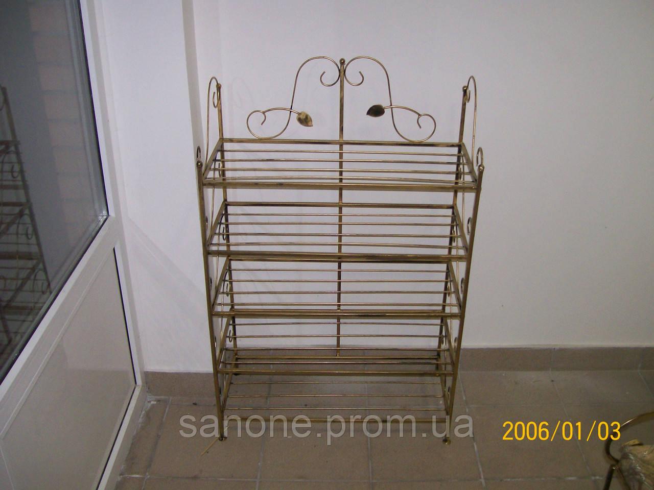 Кованая подставка для обуви., фото 1