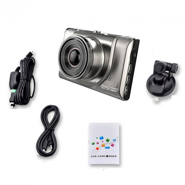 """Видеорегистратор стильный Anytek A100+ видео регистратор металлический для машини+крепление 3"""" экран"""