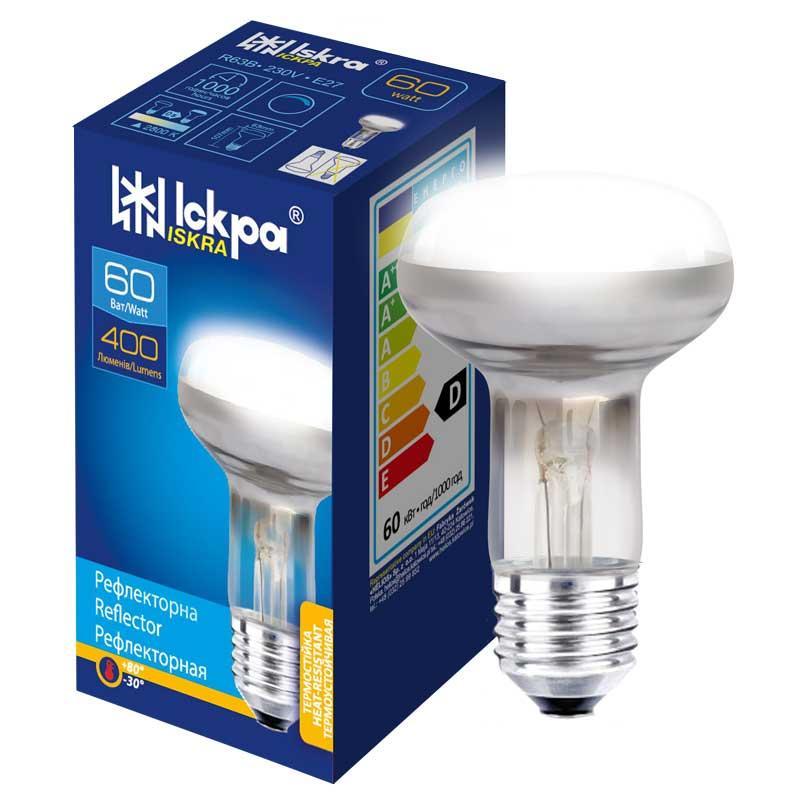 Лампа накаливания рефлекторная R63 40 Ватт Е 27