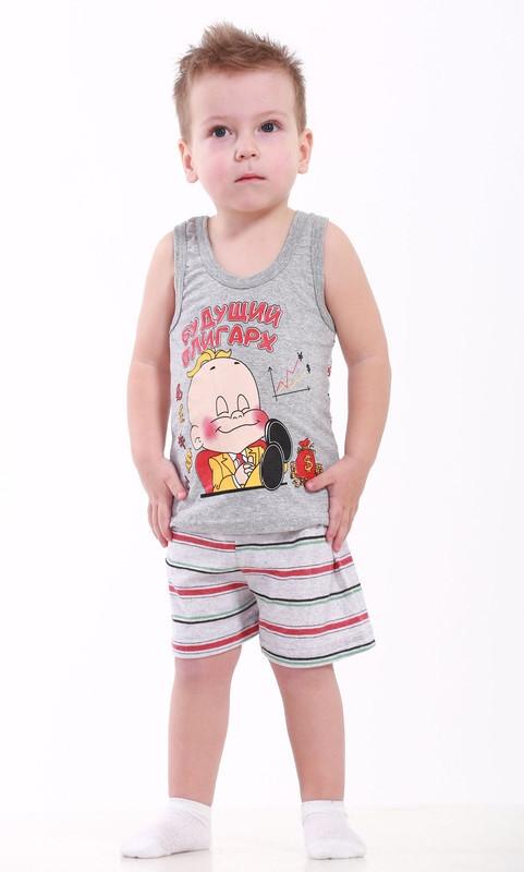 Комплект детский летний майка и шорты с рисунком