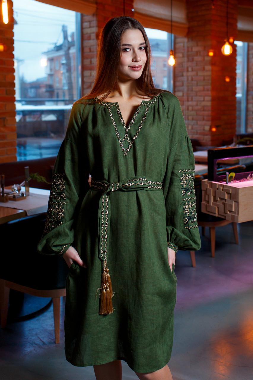 1b35e94e93950e Зелена жіноча сукня вишита: продажа, цена в Яготині. етнічний одяг ...