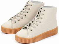 Серые повседневные весенне-осенние ботинки