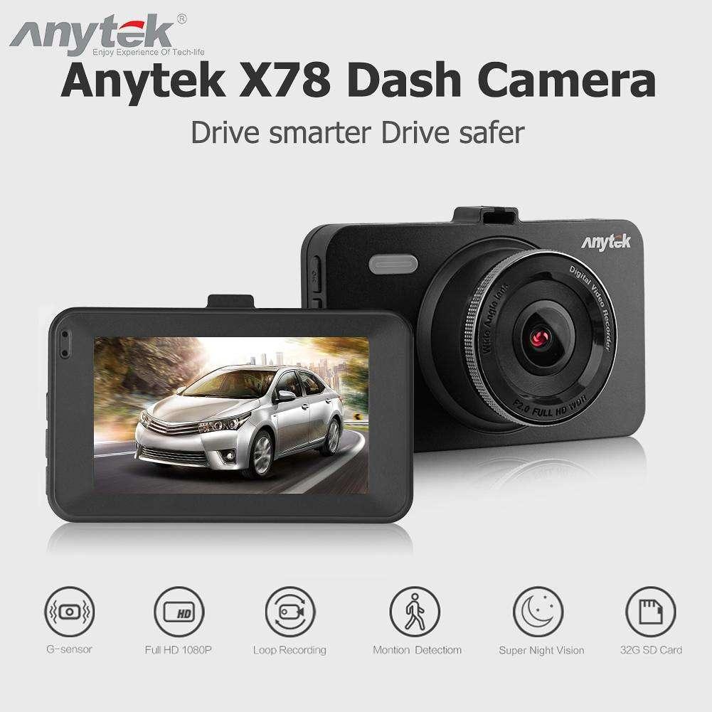 """Видеорегистратор мультимедийный Anytek A78 экран 3"""" IPS 1080P автомобильный бюджетный авторегистратор"""