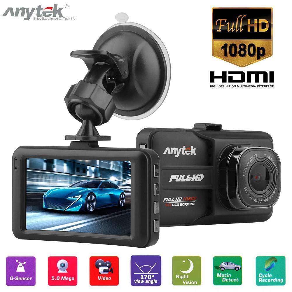 Авторегистратор Anytek A98 3-дюймовый 1080P угол обзора 170 автомобильный бюджетный гаджет анитек регистратор