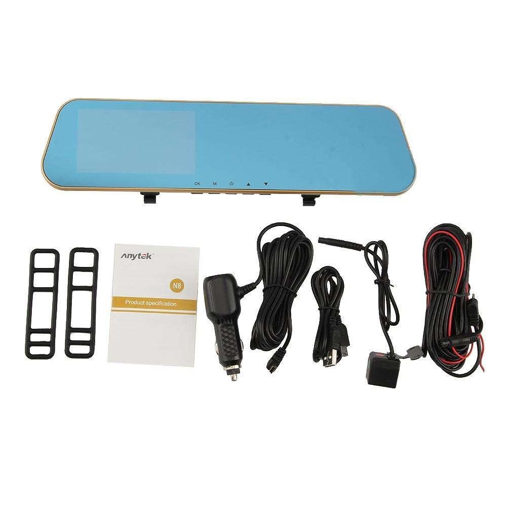Зеркало видеорегистратор мультимедийный Anytek N8 4.3 регистратор зеркало  DVR камера заднего вида