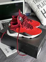 "Чоловічі кросівки Adidas Y-3 Kaiwa in ""Lush Red/Lush Red/Rust Red"", Репліка, фото 1"
