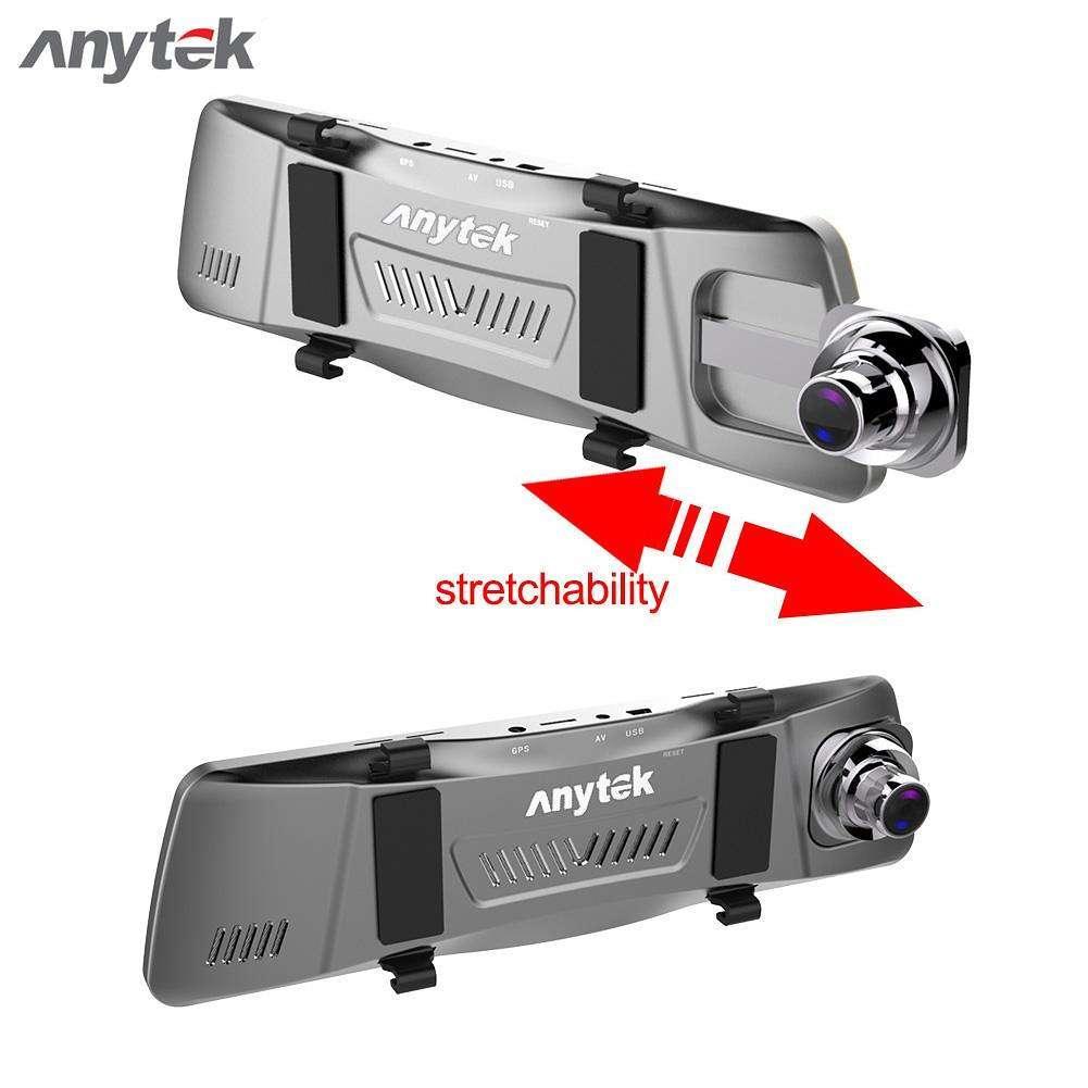 Авторегистратор зеркало Anytek T90 зеркало 9.88 экран двойной объектив регистратор стильный Анитек