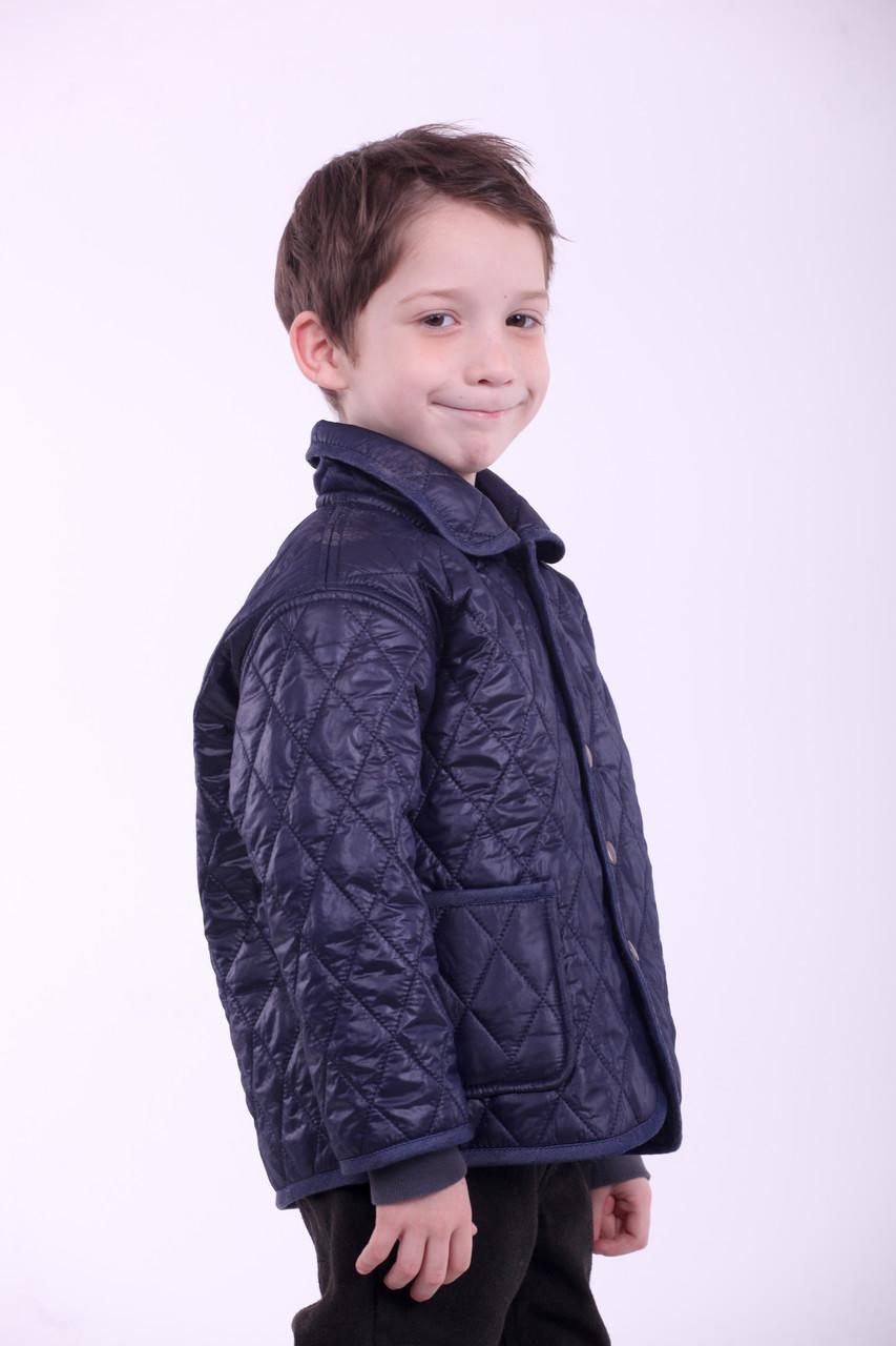 Стеганий піджак для хлопчика темно-синього кольору 98-122р