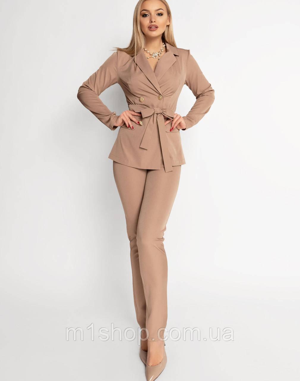 Женский брючный костюм с двубортным жакетом (Адель jd)