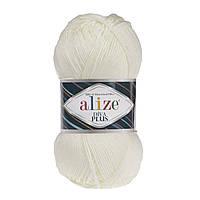 Alize Diva Plus  - 01 кремовый