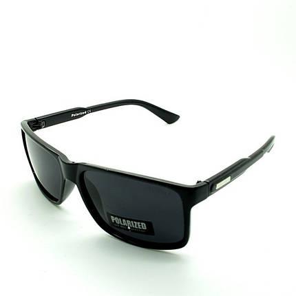 Солнцезащитные очки прямоугольные  оправа, пластик  Polarized черный мужские ( PO2261 C1 )  , фото 2