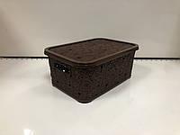 Корзина для вещей ажурная коричневая ELIF 374