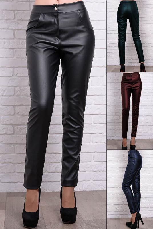 Стильные брюки Мексика из искусственной кожи.