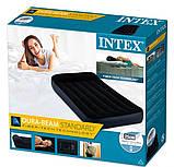 Надувной матрас Intex 64146 электронасос. Одноместный 99 x 191 x 25 см, фото 6