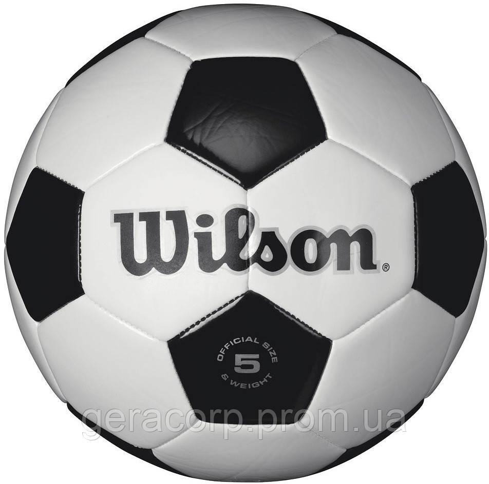 Мяч футбольный Wilson Traditional sb white/blue/silver size 5