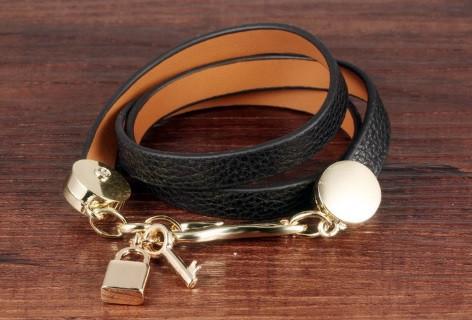 Жіночий шкіряний браслет DeParis KEY & LOCK
