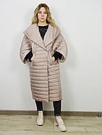 490143375d7 Пальто-одеяло женское бежевое Alberto Bini 30145