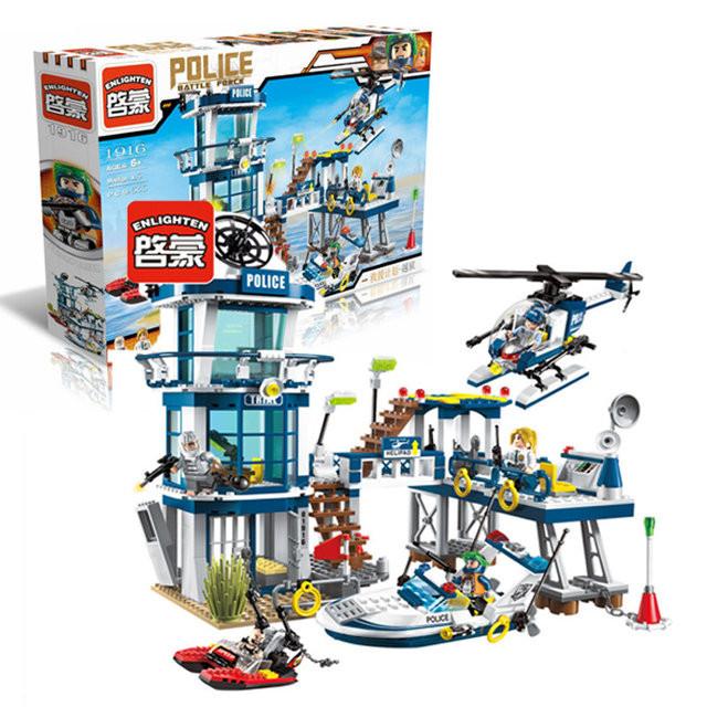 "Конструктор ""Brick"" 1916  ""Police"" в разобр.кор.52*34*6,5см Аналог Lego City"