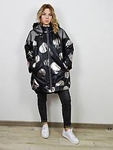 Куртка женская  черно-серебристая Aysel 61536