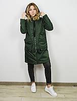 Куртка весеняя темно-зеленая CLASNA 022