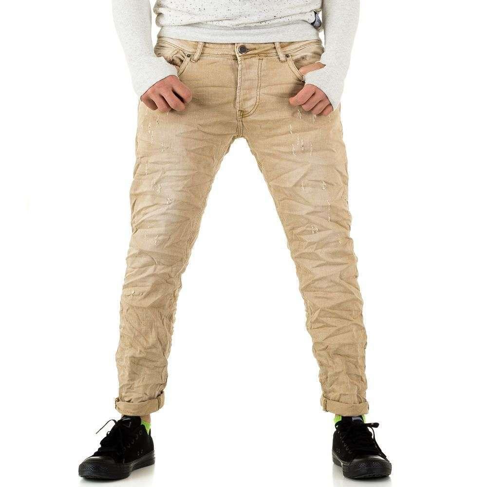 Джинсы мужские Y.Two Jeans (Италия), Бежевый