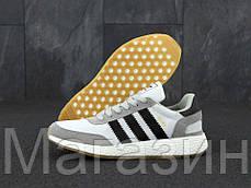 Мужские кроссовки Adidas Iniki Runner Boost Grey спортивные Адидас Иники серые, фото 2