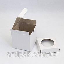 Коробка для 1 кексу, маффіну, капкейку 85*85*85