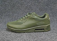 Кроссовки мужские  Nike Air Max 90 хаки сетка (найк аир макс)(р.41,44)