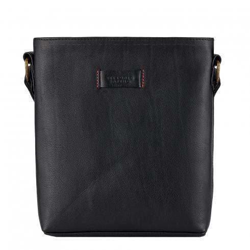 Чоловіча сумка з натуральної шкіри фірми Vittorio Safino, чорна VS 0236