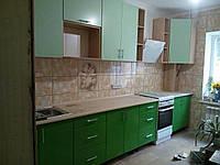 Кухня крашеный МДФ: салатовый RAL 6019/лайм RAL 6018_3,5м