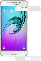 Защитное стекло Full Screen Premium Tempered Glass 2,5D для Samsung A310, A3 2016 White, фото 1