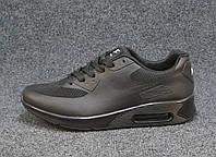 Кроссовки мужские  Nike Air Max 90 черные сетка (найк аир макс)(р.42,44,46)