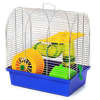"Клетка для грызунов ""Бунгало 2 люкс "" 330х230х320 цинк"