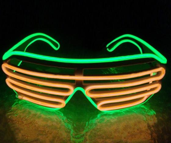 Очки светодиодные El Neon green orange неоновые