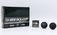М'яч для сквошу DUNLOP (1шт) 700112 REV COMP XT SINGLE DOT (гума, чорний)