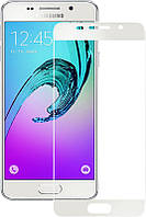 Защитное стекло Full Screen Premium Tempered Glass 2,5D для Samsung A510, A5 2016 White, фото 1