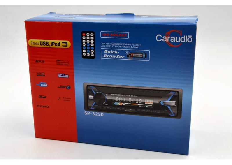 Автомагнитола 1 дин Car Audio SP-3250 USB SD не съемная панель еврофишка пульт ДУ бюджетная