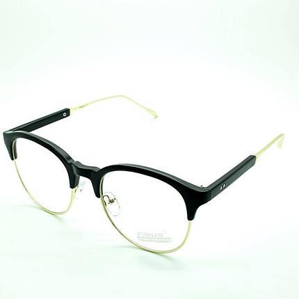 Солнцезащитные очки имиджевые, стильные  оправа, пластик  Prius черный женские ( PS3215 C1 )  , фото 2