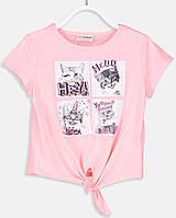 Розовая футболка для девочки Lc Waikiki / Лс Вайкики с котятами