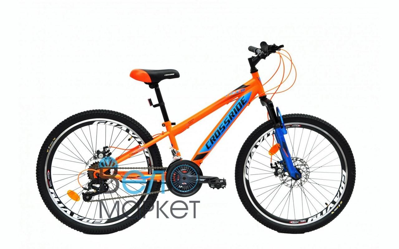 """Велосипед CROSSRIDE 24"""" Tiger MTB ST (Оранжевый) Детский МТБ"""
