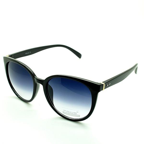 Солнцезащитные очки классика  оправа, пластик  Prius черный женские ( PS3252 C1 )