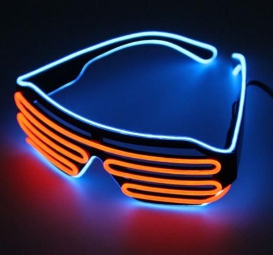 Очки светодиодные El Neon ice blue orange неоновые