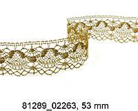 Мереживо 81289 02057, золото, 53 мм, в мотку 30 м.