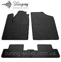 Резиновые коврики Citroen Berlingo 1999-2008  (Ситроен Берлинго) количество 4 штуки