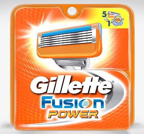 Gillette Fusion Power сменные картриджи 4 шт в упаковке