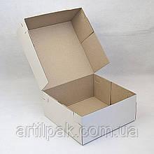 Коробка для торту 230*230*100 гофрокартон