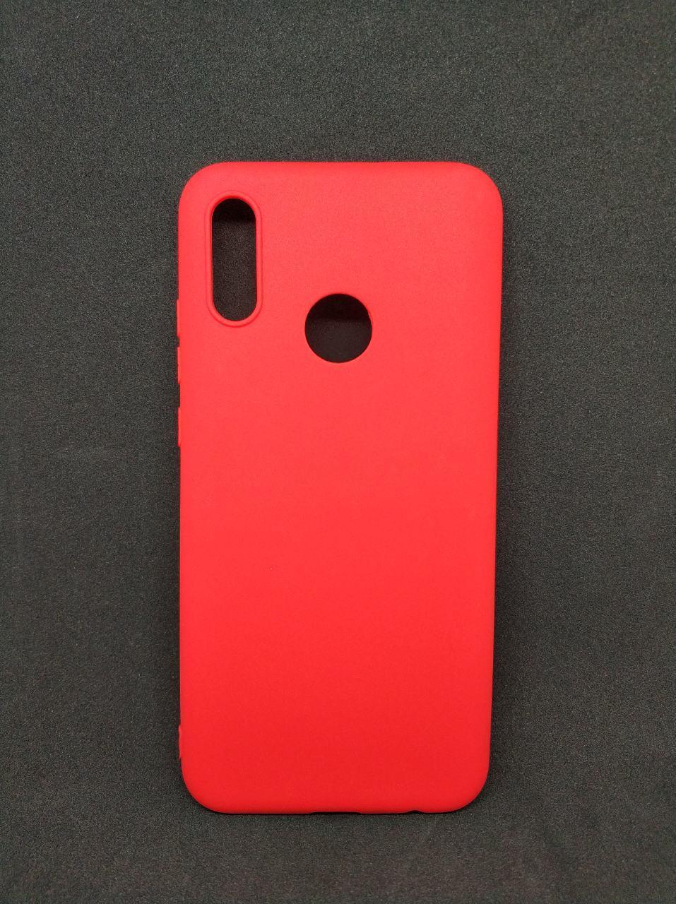 Силиконовый чехол бампер для Huawei P Smart 2019 Candy case Красный