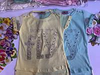 Летняя футболка для девочек от 6 до 13 лет., фото 1
