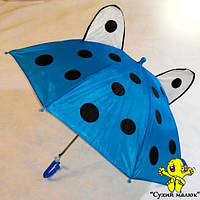 Парасоля дитяча з вушками Синя 47,5см. свисток, арт.0211  - CM01872